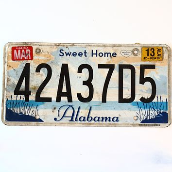 2013 Alabama Sweet Home License Plate 42A37D5