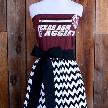 Texas A&M Aggies Strapless Game Day Dress - Size Medium