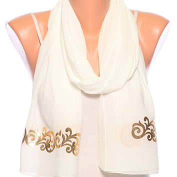 Satin scarf Gift for women white scarf womens scarves womens fashion scarves summer scarves spring scarf womens clothing