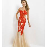 (PRE-ORDER) Blush 2014 Prom Dresses - Valentine Lace & Tulle Mermaid Prom Gown