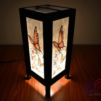 Table Lamp Butterfly and Flower Home Decoration and Wedding Lighting