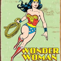 Wonder Woman Retro Metal Tin Sign , 12x16