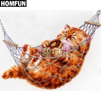 5D Diamond Painting Donuts and Kitten Kit