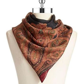 Lauren Ralph Lauren Color Blocked Paisley Scarf