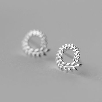Willow Leaf Stud Earrings, Sterling Silver Leaf Earrings,silver stud earrings,gift for her,simple earrings,Leaf jewelry,Willow jewelry
