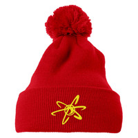 Jimmy Neutron   Embroidered Knit Pom Cap