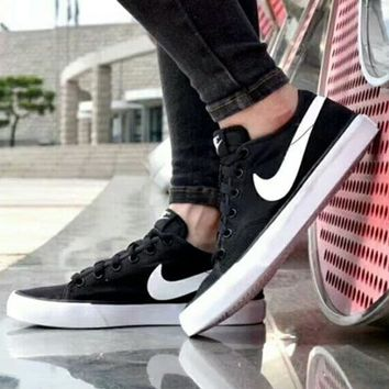 NIKE Primo Court Canvas men's spring and summer black and white shoes canvas shoes F-A50-XYZ