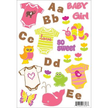 Hambly Clear Stickers, Baby Girl (25 Sheets)