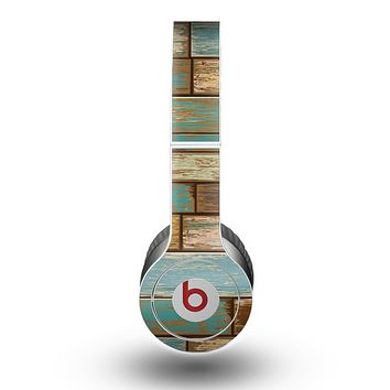 The Colored Vintage Solid Wood Planks Skin for the Beats by Dre Original Solo-Solo HD Headphones