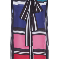 Silk Georgette Sleeveless Striped Shirt | Moda Operandi