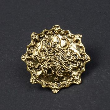 LM-B026  The Golden Lion Brooch A song of ice and fire Game of Thrones Men&'s Fashion Alloy Brooches