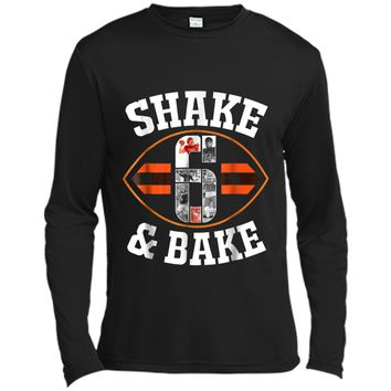 Cleveland Shake & Bake Mayfield  funny  Long Sleeve Moisture Absorbing Shirt