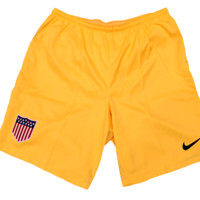 Nike Men's Team USA Dri-Fit Centennial Logo Yellow Soccer Short