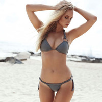 Summer Beach Swimsuit New Arrival Hot Ladies Swimwear Stylish Sexy Metal Ring Bikini [9882723791]