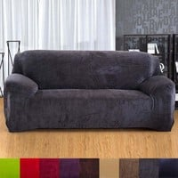 Sofa sets cover All-inclusive sofa covers Plush thickening Three Sofa Cover Pillowcase Solid Sofa Full Covers L30