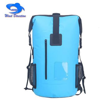 30L camping outdoor waterproof bag fishing surfing bicycle upstream backpack PVC fabric high capacity
