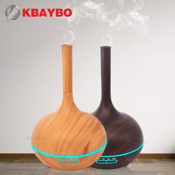 400ml Aroma Essential Oil Diffuser Wood Grain