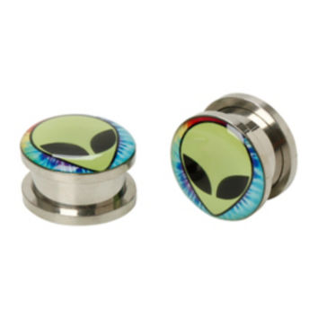 Steel Alien Tie Dye Spool Plugs 2 Pack