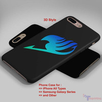 Fairy Tail Anime Blue Logo - Personalized iPhone 7 Case, iPhone 6/6S Plus, 5 5S SE, 7S Plus, Samsung Galaxy S5 S6 S7 S8 Case, and Other