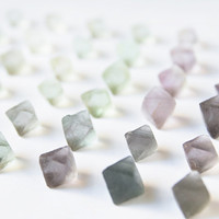Fluorite Octahedrons - Gem rough natural petite purple, green and blue fluorite crystals. Perfect for gridding or wirewrap.