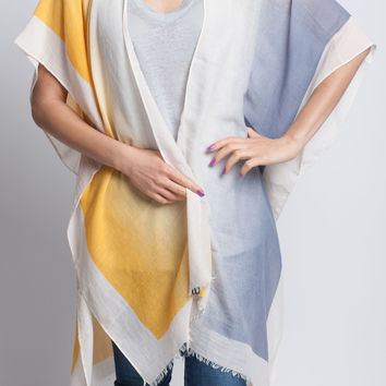 Kimono Cardigan in Yellow and Blue