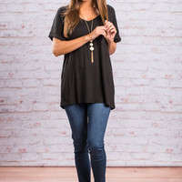On The Go Tee, Black