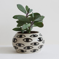 Eye Pot - Ceramic Vase - Cache Pot