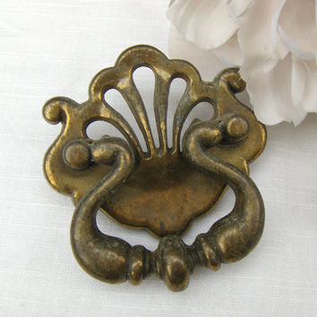 Vintage Antique Gold Drawer Handle Cabinet Door Pull
