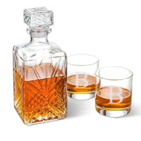 Whiskey Decanter with 2 Glasses