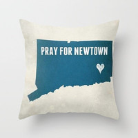 PRAY FOR NEWTOWN Throw Pillow by Sjaefashion | Society6