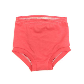 FRENCH TERRY HIGH WAISTED SHORTIES - CORAL