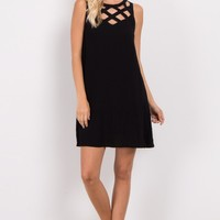 Black-Sleeveless-Cutout-Neckline-Dress