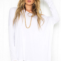 Plain Loose Long Sleeve Shirt
