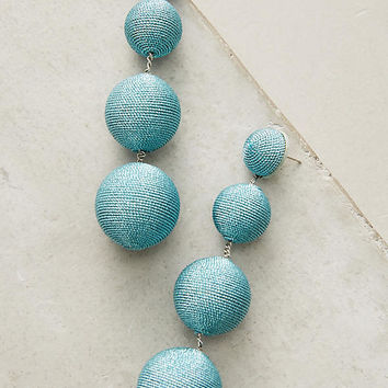 Metallic Orb Drop Earrings