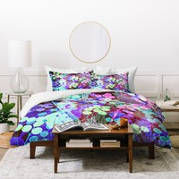 Nick Nelson Dots And Leaves Duvet Cover