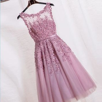 New Arrival 2017 Sexy Lace Pearl Short dress dBridesmaid Gowns customized color Cap Sleeve Lace Bridesmaid Dresses