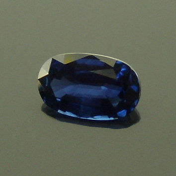 Sapphire: 1.28ct Blue Oval Shape Gemstone, Natural Hand Made Faceted Gem, Loose Precious Corundum Mineral, OOAK Crystal Jewelry Supply 20273
