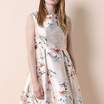 Bouquets of Lily Prom Dress