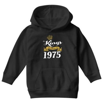 kings are born in 1975 Youth Hoodie