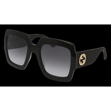 Gucci - GG0102S-001 Black Sunglasses / Grey Gradient Lenses