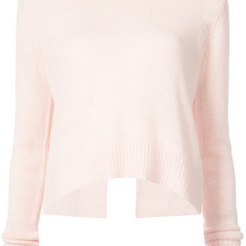 Derek Lam 10 Crosby Long Sleeve Sweater With Back Ring Detail - Farfetch