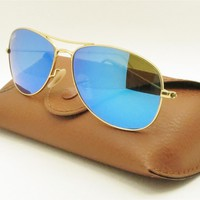 Cheap Ray Ban 3362 Cockpit Matte Gold Mirror New Sunglasses Buyer Picks Color outlet
