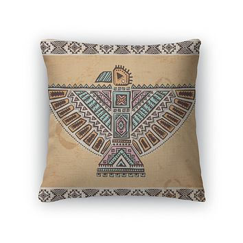 Throw Pillow, Tribal Native American Eagle Symbols