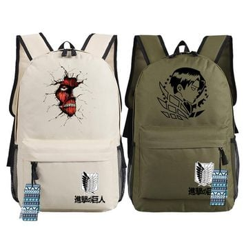 Cool Attack on Titan Men Women Unisex Japan Anime  Backpack Bag School Shoulder Travel Bag Boys Girls AT_90_11