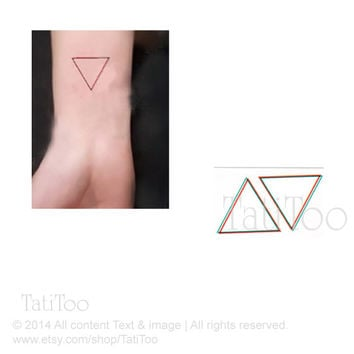 Triangle tattoo, geometric tattoo- Temporary Tattoo T073