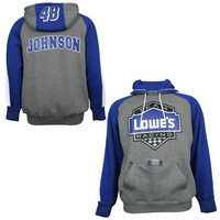 Jimmie Johnson Chase Authentics Lowe's Huzu Pullover Hoodie - Gray