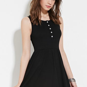 Buttoned Babydoll Dress