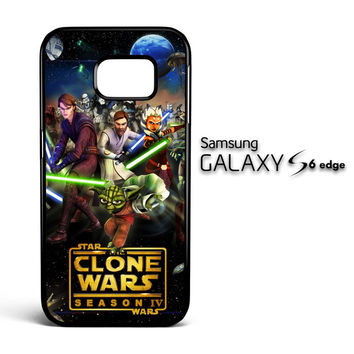 clone wars Y0639 Samsung Galaxy S6 Edge Case