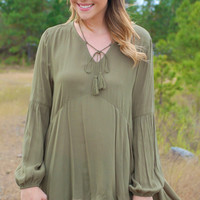 Spice Of Life Blouse-Olive