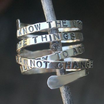 Serenity Prayer Ring Original by donnaodesigns by donnaOdesigns